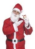 Papai Noel com presente do ittle Fotos de Stock