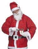 Papai Noel com presente do ittle Imagem de Stock Royalty Free