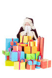 Papai Noel com presentes Imagens de Stock