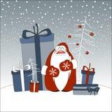 Papai Noel com presentes Foto de Stock Royalty Free