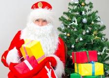 Papai Noel com presentes Fotografia de Stock
