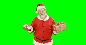 Papai Noel com presentes filme