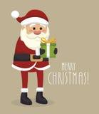 Papai Noel com projeto isolado presente do ícone Imagens de Stock
