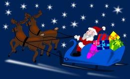 Papai Noel com rena Fotos de Stock