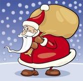 Papai Noel com saco Fotografia de Stock Royalty Free