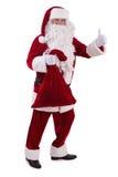 Papai Noel com saco grande Foto de Stock Royalty Free
