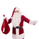 Papai Noel com saco grande Fotografia de Stock