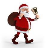 Papai Noel com sino Fotografia de Stock Royalty Free