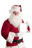 Papai Noel com tabuleta Imagem de Stock Royalty Free