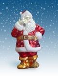 Papai Noel com telemóvel Fotografia de Stock Royalty Free
