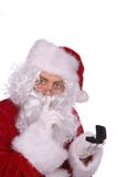 Papai Noel com um anel Fotografia de Stock