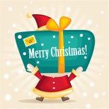 Papai Noel. Com um presente Fotografia de Stock