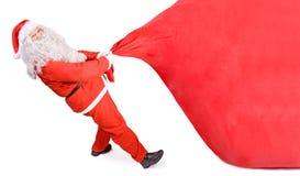 Papai Noel com um saco grande Fotografia de Stock Royalty Free