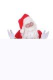 Papai Noel com um sinal em branco Fotos de Stock Royalty Free