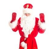 Papai Noel dá-lhe boas-vindas Fotografia de Stock Royalty Free