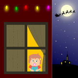 Papai Noel de espera Fotografia de Stock Royalty Free