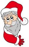 Papai Noel de espreitamento Foto de Stock Royalty Free