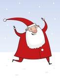 Papai Noel de funcionamento Imagem de Stock Royalty Free