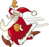 Papai Noel de funcionamento Imagens de Stock Royalty Free