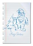 Papai Noel desenhado mão Imagens de Stock Royalty Free