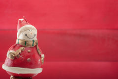 Papai Noel e boneco de neve imagem de stock