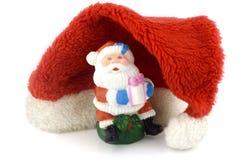 Papai Noel e chapéu vermelho Imagem de Stock