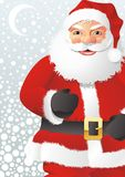 Papai Noel e lua Fotos de Stock Royalty Free