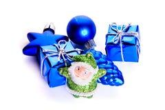 Papai Noel e presentes Fotos de Stock Royalty Free