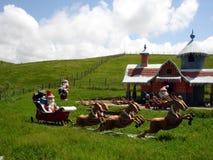 Papai Noel e rena   Fotos de Stock Royalty Free