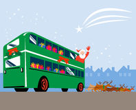 Papai Noel e renas Imagem de Stock