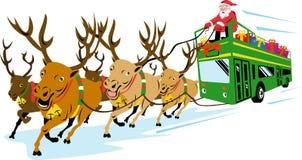 Papai Noel e renas Fotos de Stock