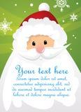 Papai Noel e sinal Imagens de Stock