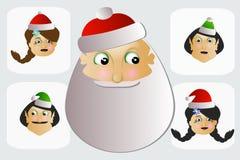 Papai Noel e Sra os duendes são botão, chave, tecla Fotos de Stock Royalty Free