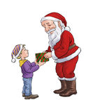 Papai Noel e um menino Foto de Stock Royalty Free