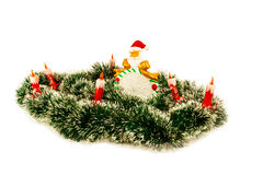 Papai Noel e velas Imagens de Stock Royalty Free