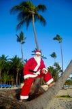 Papai Noel em férias foto de stock