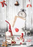 Papai Noel em um sledge Fotos de Stock Royalty Free