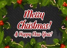 Papai Noel em um sledge imagem de stock royalty free