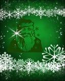 Papai Noel em um sledge foto de stock