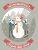 Papai Noel em um sledge Fotografia de Stock Royalty Free