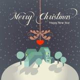 Papai Noel em um sledge ilustração stock