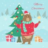 Papai Noel em um sledge Foto de Stock Royalty Free