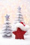 Papai Noel em um sledge Fotos de Stock
