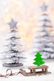 Papai Noel em um sledge Imagens de Stock