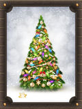 Papai Noel em um sledge Eps 10 Fotografia de Stock Royalty Free