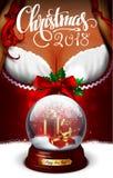 Papai Noel em um sledge Ilustração altamente realística ilustração royalty free