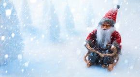 Papai Noel em um trenó Imagem de Stock Royalty Free