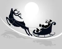Papai Noel em um trenó Fotografia de Stock Royalty Free