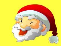 Papai Noel enfrenta Fotos de Stock