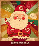 Papai Noel engraçado Fotos de Stock Royalty Free